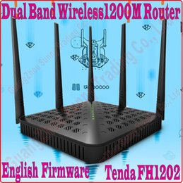 Wholesale Eng Firmware Tenda FH1202 Dual Band G G Mbps AC Wireless WiFi Router dBi Antenna X5 WDS Bridge NO COLOR BOX PROM