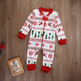 Wholesale 2016 winter christmas baby rompers Zipper Full Cover kids Boy Girl Xmas Long Sleeve Romper high quality Jumpsuit child Clothes