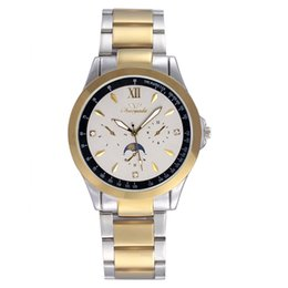 Compra Online Mujer del estilo de reloj resistente al agua-De buena calidad Chaoyada hombres de las mujeres de los amantes de los amantes de acero inoxidable 3 diales de estilo reloj de pulsera de cuarzo 7198