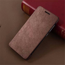 Wholesale-High Quality PU Leather Flip Case for Xiaomi Redmi 2 Hongmi 2 Red Rice 2 Cover Bag 10 Colors