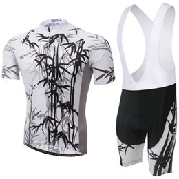 Wholesale Cycling Jersey Sets Strap Sets Bamboo Short Sleeve Summer Breathable moisture absorption and perspiration Comfortable Fashion