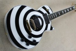 Factory Price Custom Shop 6 Strings EMG pick-up Zakk Wylde Bullseye white black Circle Electric Guitar Free shipping