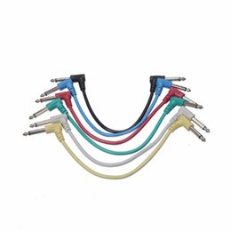 Wholesale Practical Wire Colorful Guitar Patch Cables Angled for Guitar Effect Pedals Audio Plug Set Colors Available