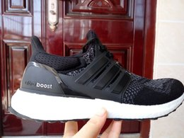 Wholesale 2016 kids Top quality autumn women mens fashion adds Ultra Boost Gray Mesh Breathability sports shoes running shoes drop shipping size