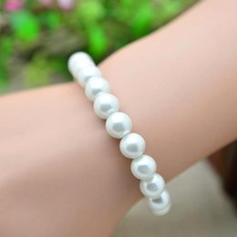 Wholesale Cheap In Stock Beaded Pearl Bracelets Wedding Bridal Accessories Bridal Jewelry Wedding Party Wear SD