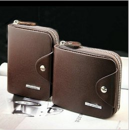 2016 New Men Wallets Genuine Leather Men's Wallet Short Design Zipper Coin Purse Card Holder Casual Purse Carteira for Men