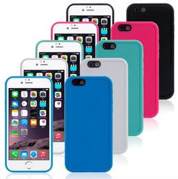 Wholesale Waterproof Shockproof Hybrid Rubber TPU Phone Case Cover For iPhone 6 6S Plus 4.7 5.5 inch