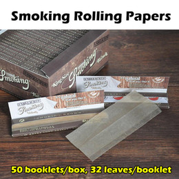 Wholesale Smoking Rolling Papers Deluxe King Size Smoking Papers Booklets box Leaves booklet Black Brown Silver Available