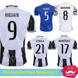 Wholesale Top Thai HIGUAIN Soccer Jersey Adult men Juves MANDZUKIC PJANIC MARCHISIO soccer Jerseys JUVe Football Shirts