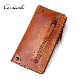 2016 Men Wallet Genuine Leather Purse Vintage Chocolate Pocket Pack Coin Pocket Cards Holder Wallet for Men