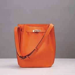 Wholesale Genuine leather women bag vertical Horseshoe leather cowhide handbag messenger bag Sokelly new H brand leisure shoulder bag