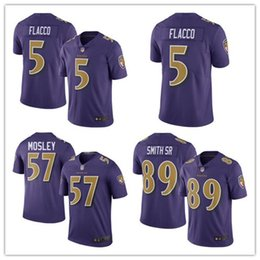 Wholesale 2016 New released Men s Ravens Purple Color Rush Limited Jerseys Baltimore Joe Flacco Steve Smith CJ Mosley authentic football shirt