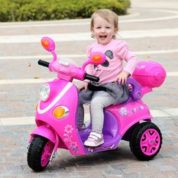 Wholesale The new Children s electric car electric motorcycle tricycle baby stroller toy remote control car can take people shipping