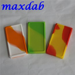 Wholesale Large Waxmate Containers Big Silicone Rubber Silicon Storage Square Shape Wax Jars Dab Concentrate Tool Dabber Oil Holder for Vape Dry Herb