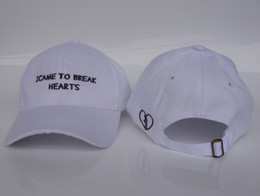 Wholesale i came to break heats Snapback Hats panel Embroidery Sports golf Baseball Adjustable Design Caps strapback For men and women
