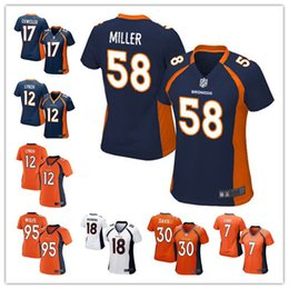 Wholesale women football Jerseys Von Miller Denver cheap Broncos jerseys Demaryius Thomas Game authentic football shirt size S XL