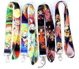 Hot!300pcs Mixed Cartoon Anime DRAGON BALL Z Super Saiyan Super Saiyan Goku Gohan Vegeta Toy KEYS ID card Neck Lanyard straps DHL Free Shiip