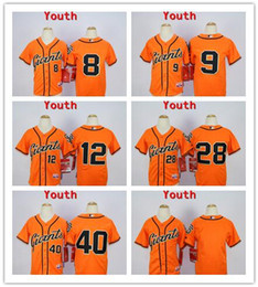 Wholesale Kids Stitched MLB San Francisco Giants Blank Posey bumgarner pence Panik Cream Black Orange Gray Baseball Jerseys Mix order