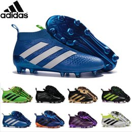 Wholesale Adidas Originals ACE PureControl FG Men Soccer Shoes Boots Slip On Cheap Original Performance Ace Cleats Football Sneakers New