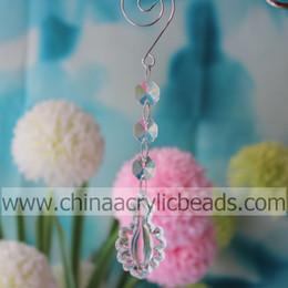 Wholesale 50PCS Wedding Event Decoration crystal drop chandelier Beaded Drop Ornament