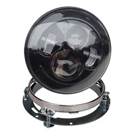 Wholesale Motorcycle part Harley Moto Headlamp quot Led With quot Motorcycle Chrome Daymaker Headlight Extension Trim Ring Bracket For Harley Davidson