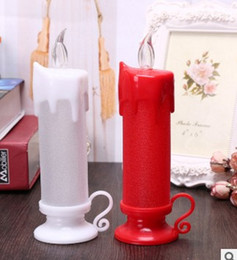 Christmas candle candle manufacturers simulation candle tear - light green Christmas candle lamp