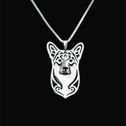 Pembroke Welsh Corgi pendant Silver Gold Necklaces & Pendants For Women Casual Jewelry Charms Dog Necklace
