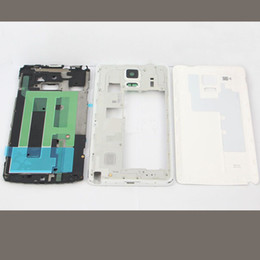 White Complete Back Battery Cover Full Housing With Middle Frame Bazel For Samsung Galaxy Note 4 N910A AT&T