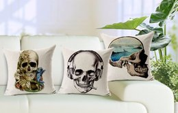 Vodka Marine clearing headphones cool war design skeletons skull emoji pillow case massager pillows case home bar Gift