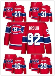 2018 New Montreal Canadiens Men 31 Carey Price 67 Max Pacioretty 11 Brendan Gallagher 6 Shea Weber 92 Jonathan Drouin Red Hockey Jerseys