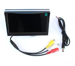 Acheter en ligne Lcd moniteur d'affichage vidéo-2 Ways Entrée vidéo 5 pouces TFT LCD 800 x 480 Définition du panneau numérique couleur de voiture Moniteur Parking Pour Vue arrière Caméra