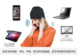 Wholesale NEW Soft Warm Beanie Bluetooth Music Hat Cap with Stereo Headphone Headset Speaker Wireless support for apple samsung ipad ipod s plus