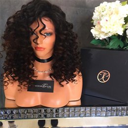Kinky Curly Lace Front Wigs Malaysian Virgin Human Hair Glueless Full Lace Wigs with Bleached Knots for Black Women