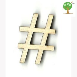 Wholesale 100pcs hashtag pound sign UNFINISHED shaped laser cut card EARRING bead gift tag natural color CUT OUT EA122
