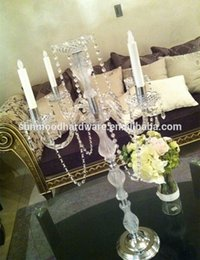 Wholesale accept paypal visa credit card wedding decoration acrylic chandelier flower stand for wedding table centerpieces and decoration