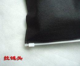 Armadura usada en venta-Tapa del deslizador de bloqueo de ropa de embalaje 15x20cm usos universales para los escritos claro negro no tejido bolsa 100pieces mucho