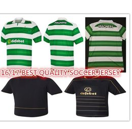 Wholesale 2016 Best Quality The Celtic soccer shirts green black camiseta de foot custom shirt