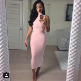 2016 new women dress turtleneck khaki red clubwear rayon bodycon party dress white olive pink knee length bandage dress