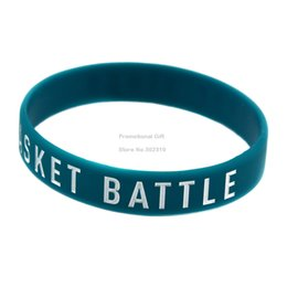 Wholesale Silicon Basket - Wholesale 100PCS Lot Basket Battle Never Stops Silicon Wristband, It' Soft And Flexible Great For Normal Day To Day Wear