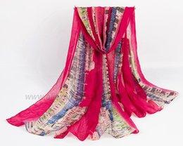 Wholesale new hot sale women s fashion stoles famous building print scarf profound European civilization architectural style shawls