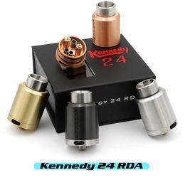 Vaporizador KENNEDY 24 RDA Clon 2 POST Atomizadores Rebuildables 24mm Diámetro SS Negro Latón Cobre Rojo PEEK Aislador E Cigs Fit Box Mod DHL desde cobre vaporizador mod proveedores