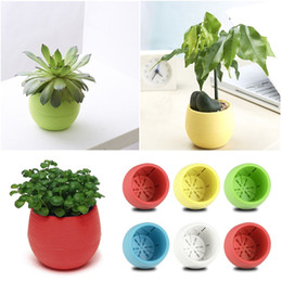 Colorful Flower Pots Mini Flowerpot Garden Unbreakable Plastic Nursery Pots Adorable Afforest Aid Good Helper