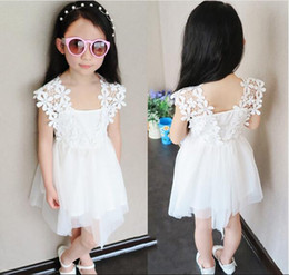 2016 Summer Baby Girl lace Clothing white Dress Infant Princess party Dress Children's Dresses kids dress Clothing