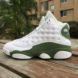 Wholesale 2016 Hot Sale Ray Allen Retro Men s Basketball Shoes Green White PE Sports Training Sneakers Airs Size