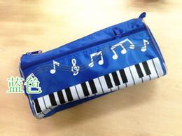 crayon sac étudiant de musique sacs à thème de qualité imperméable à l'eau Remarque résistant sac Piano sac cosmétique sac cadeau musique de piano étanche en tissu Oxford à partir de note crayon fabricateur