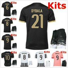 Wholesale 2015 Italy Club soccer jersey kits DYBALA MORATA MARCHISIO MANDZUKIC DANI ALVES Top Quality Serie a football shirt and shorts