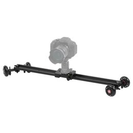 Wholesale Andoer cm Wheels Soundless Video Rail Track Skater Slider Dolly Table Car Stabilizer for Canon Nikon Sony DSLR Camera Camcorder DV D4345