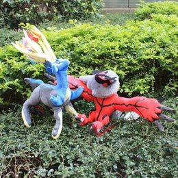 Wholesale Poke mon plush Xerneas Yveltal Plush Toys Soft Stuffed Animal Eagle and deer Doll