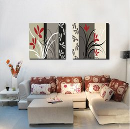 Wholesale Pieces no frame Canvas Prints Abstract paintings tree potted flower grass Sax violin trumpet Tuba Horn Musical Instruments