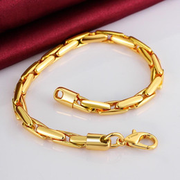 5MM 18k gold plated alloy fashion Bracelets link for men women figaro jewelry Rhinestone created B086